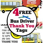 Fun & Free! Bus Driver Thank You Gift Cards