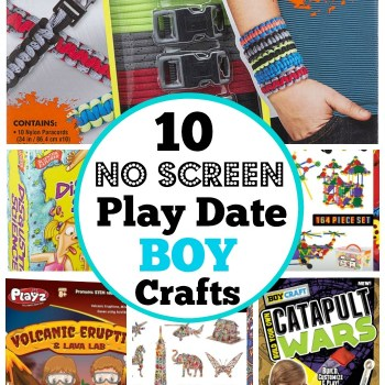 10 no screen play date, birthday party and sleepover craft and building kits for boys.