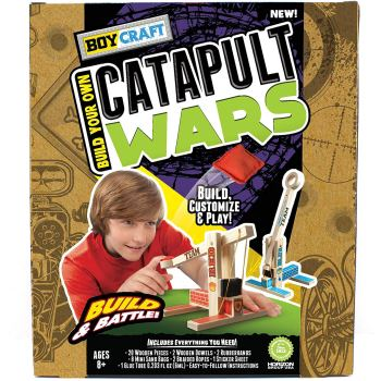 Learn to build catapults with DIY catapult craft kit for kids.