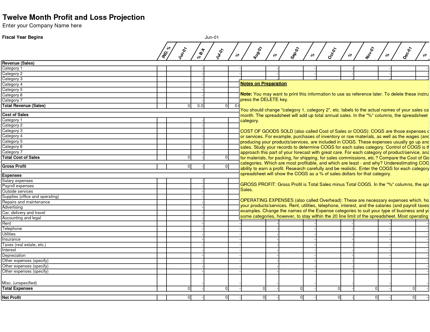 Excel Spreadsheet For Small Business Expenses