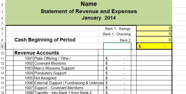 Accounting Spreadsheets Free Accounting Spreadsheet
