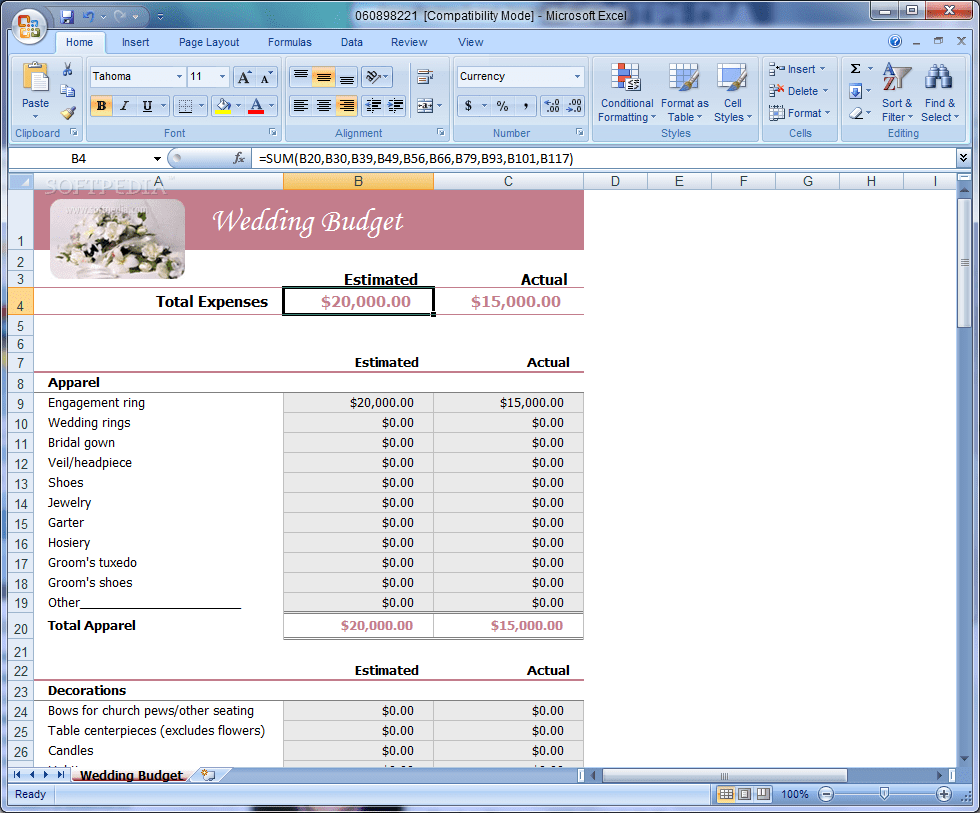 Household Budget Templ Te Excel 1 Templ Te Budget Spre Dsheet