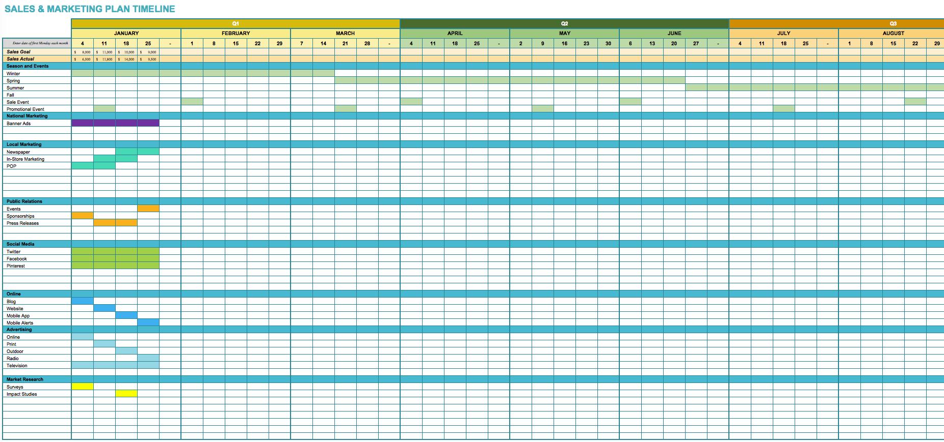 Marketing Project Tracking Sheet Template Marketing
