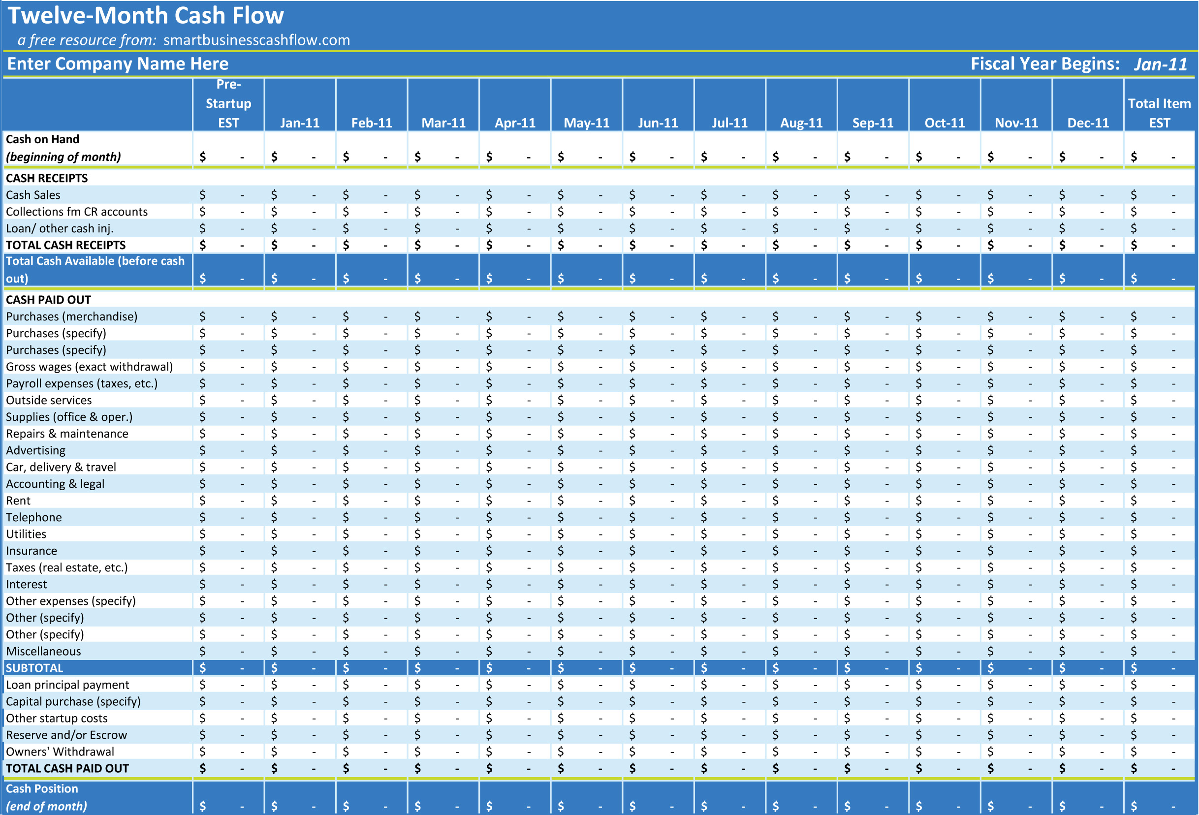Excel Cash Flow Template Excel Spreadsheet Templates Cash Flow Spreadsheet Spreadsheet Templates