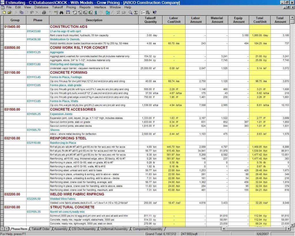 Estimating Spreadsheet Template Spreadsheet Templates For Busines Demolition Estimating