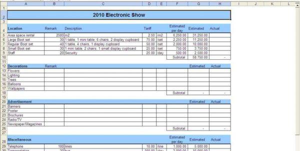 Budget Worksheet Excel - Nonprofit Budget Template Non Profit Budget ...