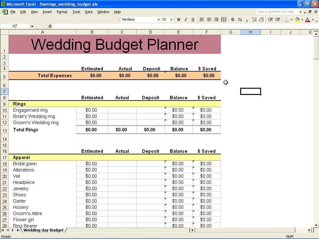 Financial Planning Spreadsheet Spreadsheet Templates For