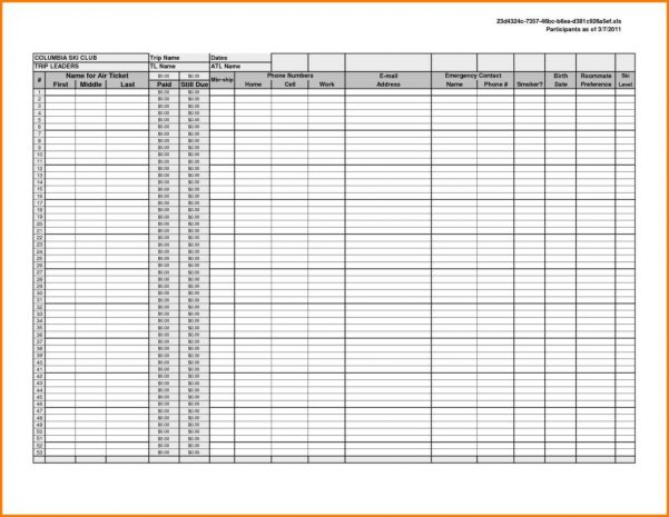 Printable Spreadsheet Template Printable Spreadsheet