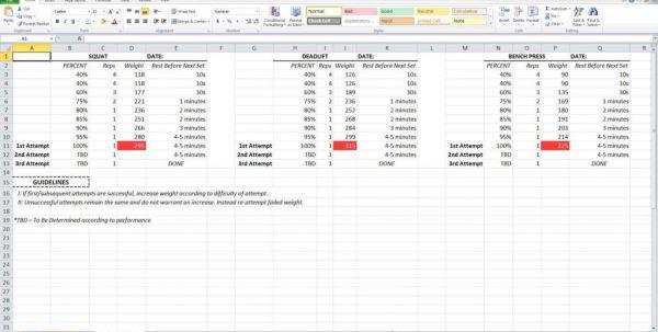 Madcow 5x5 Spreadsheet Madcow 5x5 Spreadsheet Spreadsheet