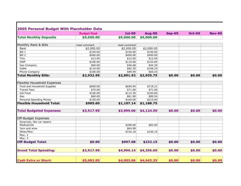 Monthly Expense Report Template Excel1 Monthly Expense