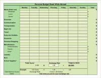 Sample Personal Budget Spreadsheet Budget Spreadsheet ...