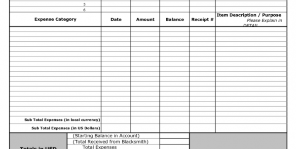 Personal Expense Tracking Spreadsheet Template Expense Tracking ...