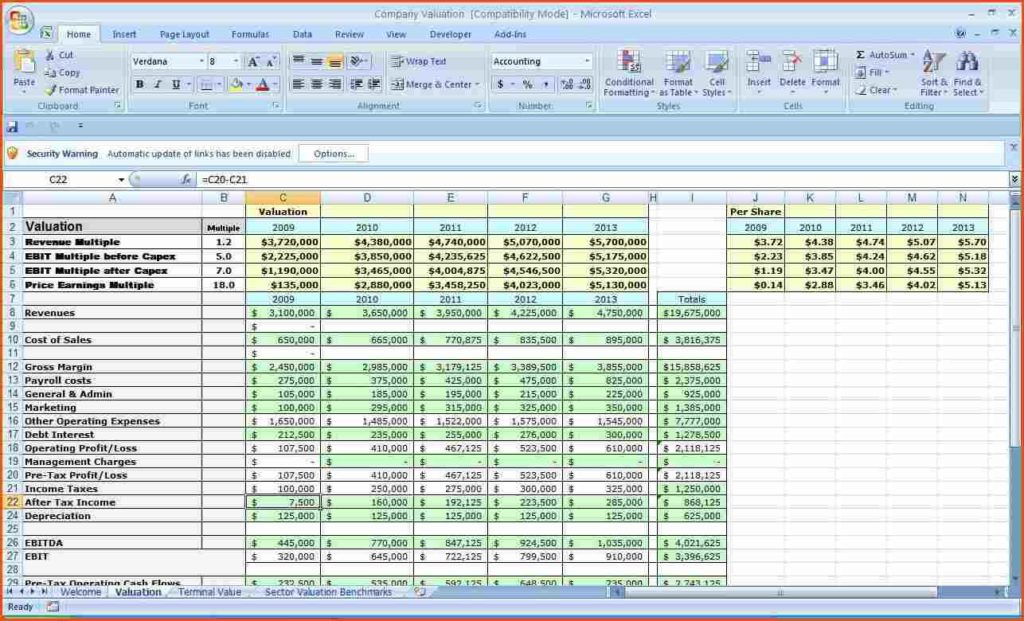 how to create a budget on excel