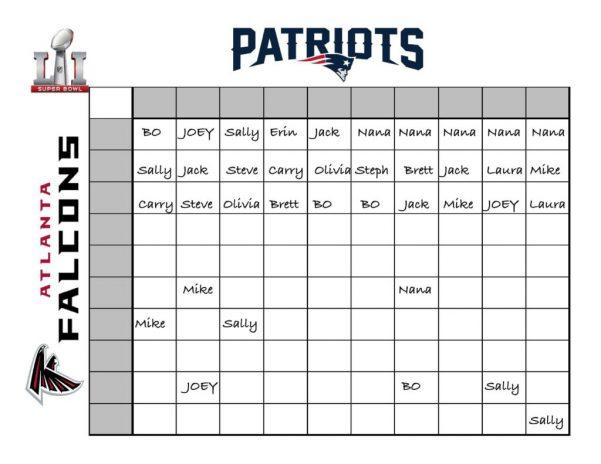 Super Bowl Spreadsheet Super Bowl Spreadsheet Template