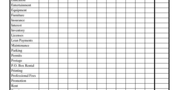 Expense Spreadsheet Template Spreadsheet Templates for