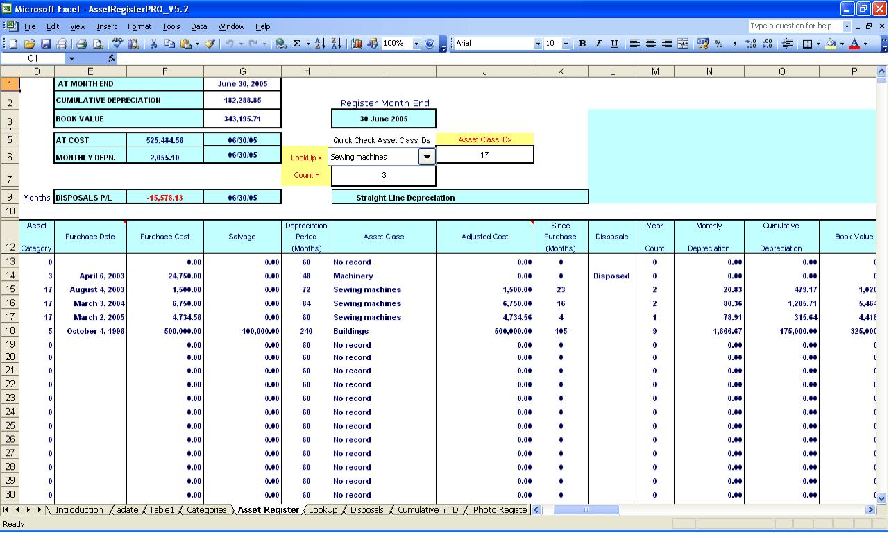 Asset Management Excel Format Download