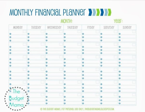 Monthly Financial Planning Worksheet Monthly Financial Planning ...