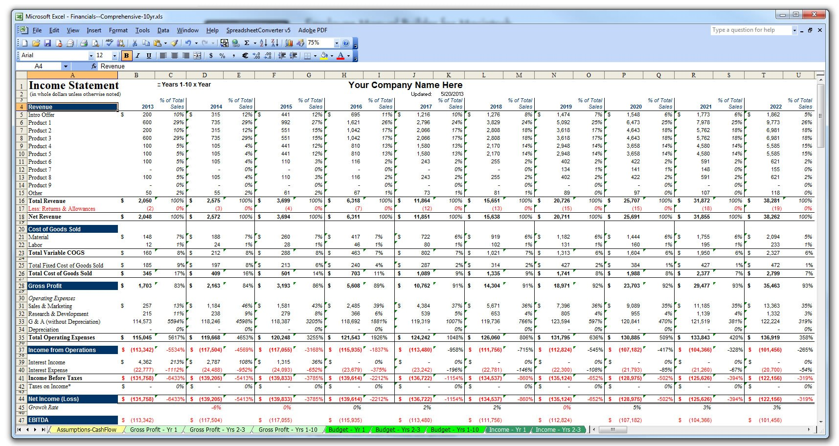 Personal Financial Planning Template 1