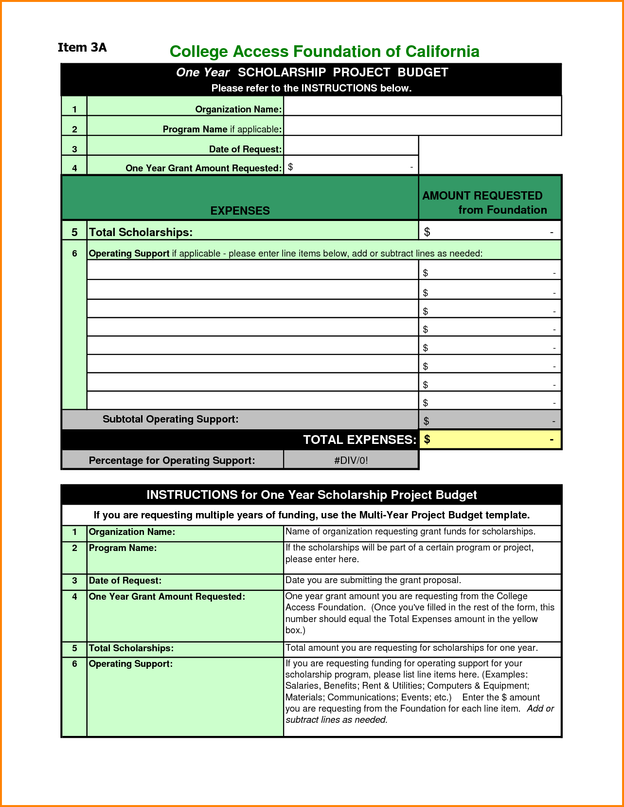 Sample Student Budget Worksheet College Budget Template