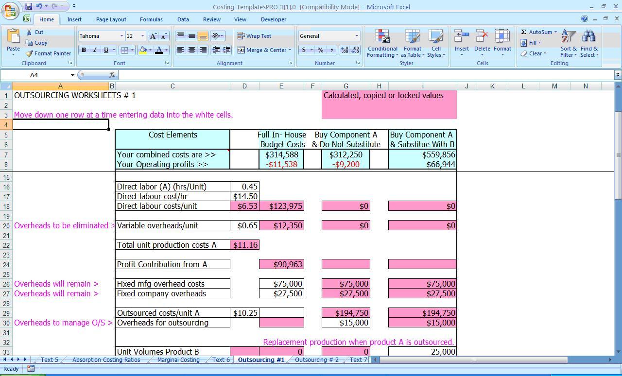 Recipe Costing Formula Db Excel