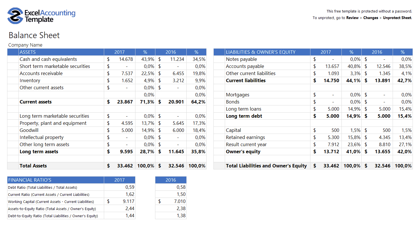 Free Accounting Templates In Excel