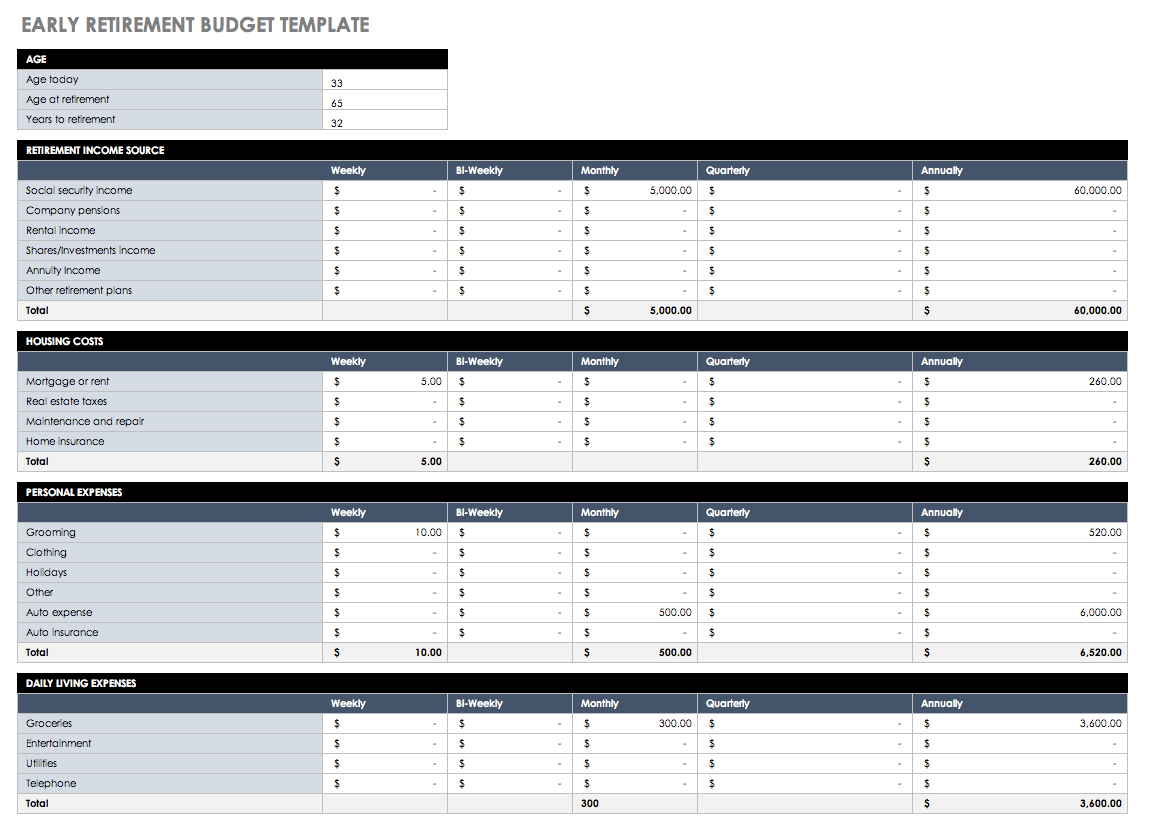 Budgeting Spreadsheet Template Excel Spreadsheet Template