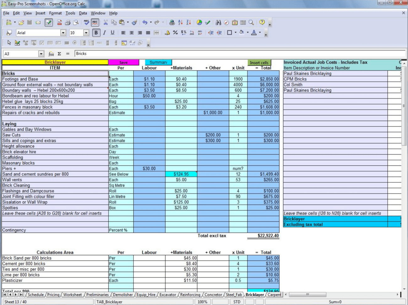 Excel Cash Flow Worksheet