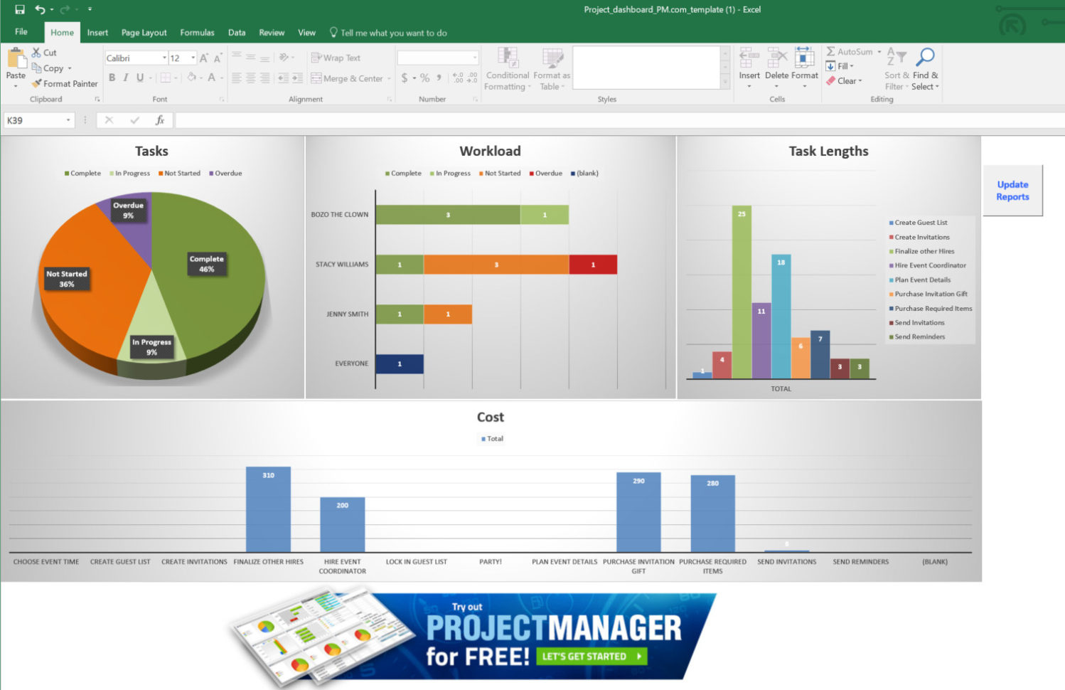 Free Excel Dashboard Training Example Of Spreadshee Free