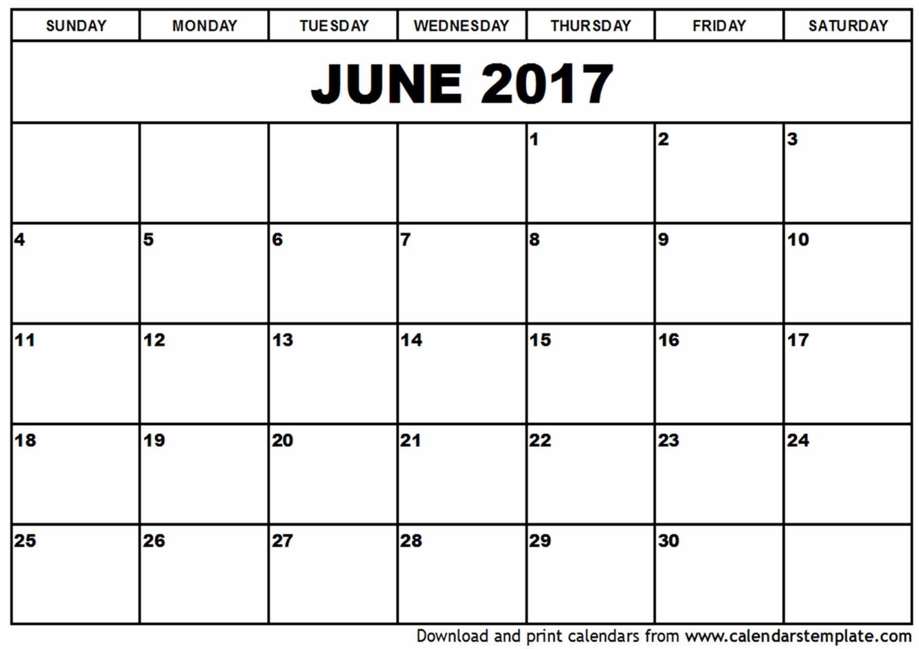 Printable Blank Calendar Template June Calendar Printable In Blank Worksheet Templates Db