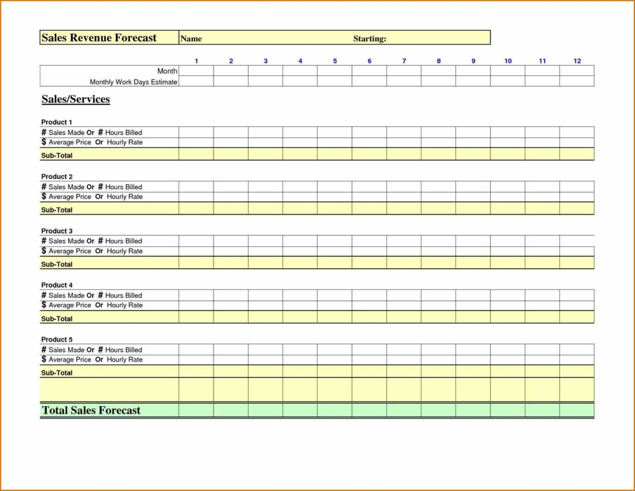 12 Month Sales Forecast Template Example Of Spreadshee 12 Month Sales Forecast Template 12