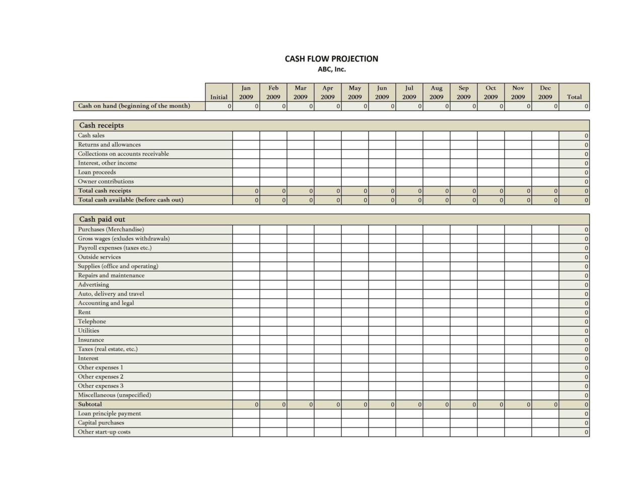 Small Business Cash Flow Template Reference Of Microsoft
