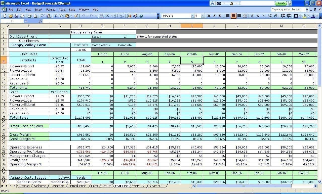 Small Farm Accounting Spreadsheet And Farm Accounting