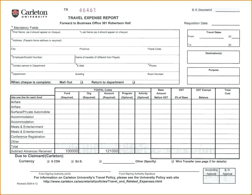 Template Finance Forms Template Church Accounting