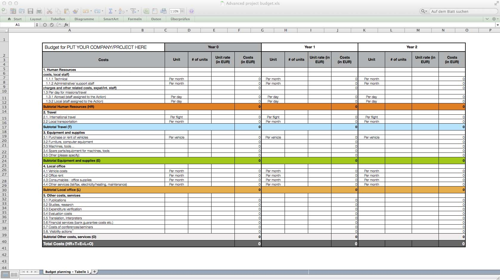 Templates For Excel Or Mac