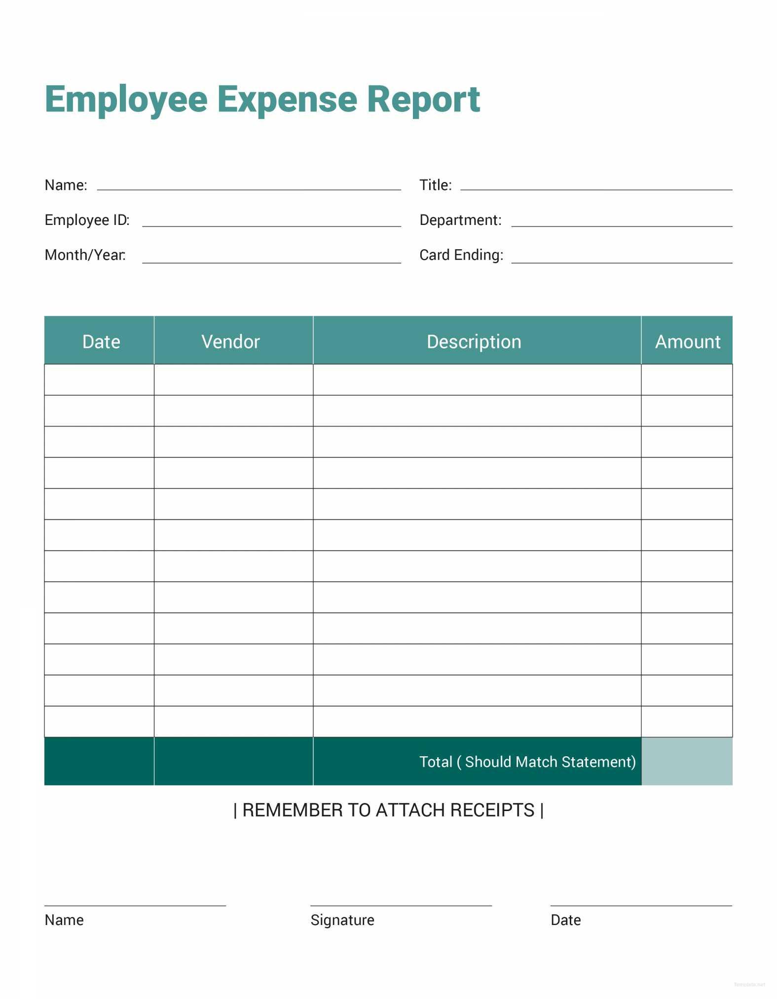 20 Awesome Employee Expense Report Template