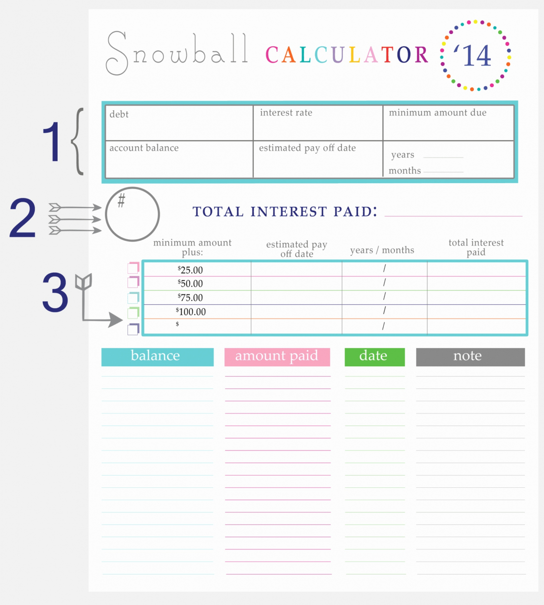 20 Fresh Free Debt Reduction Spreadsheet