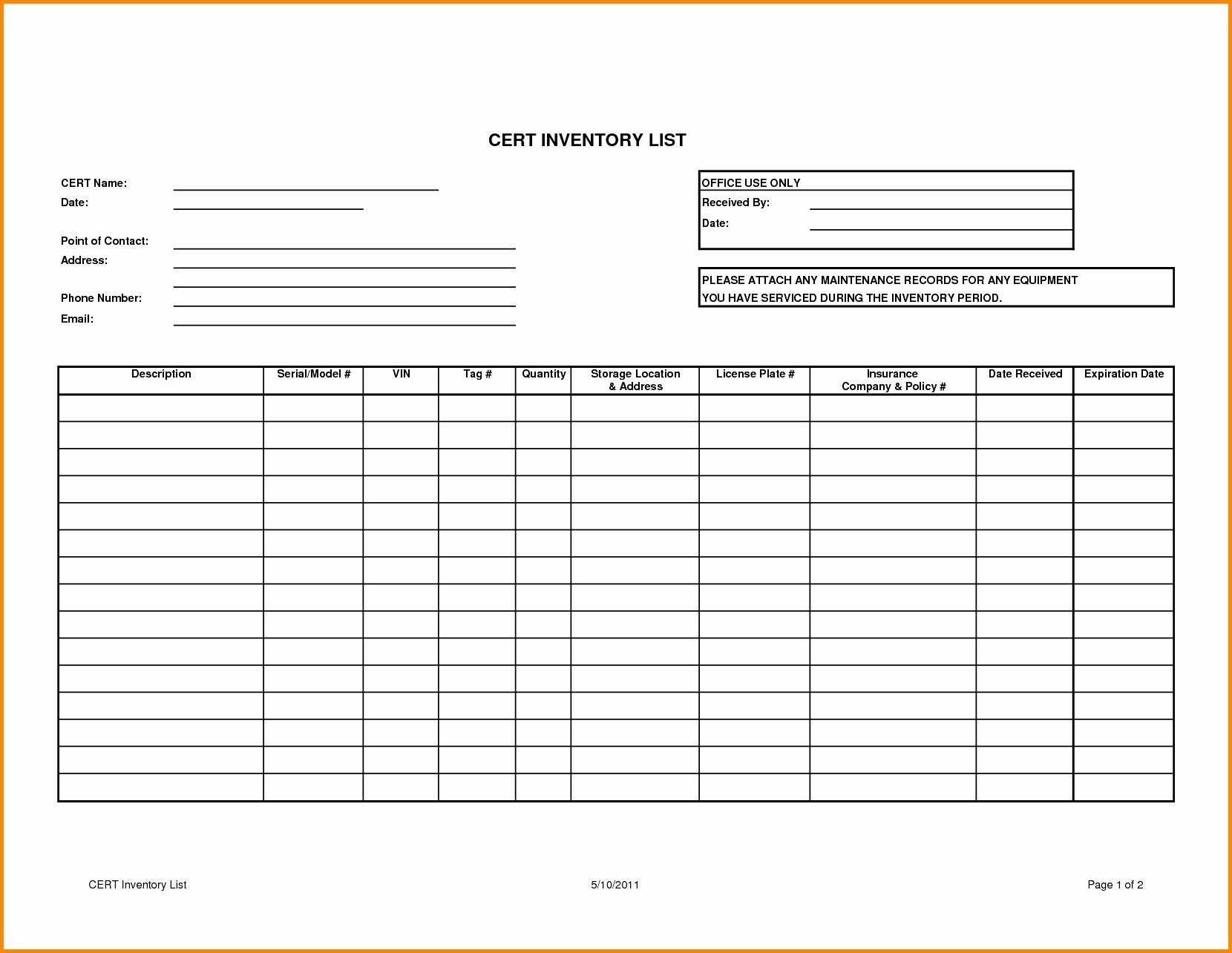 50 Elegant Printable Liquor Inventory Sheets Documents