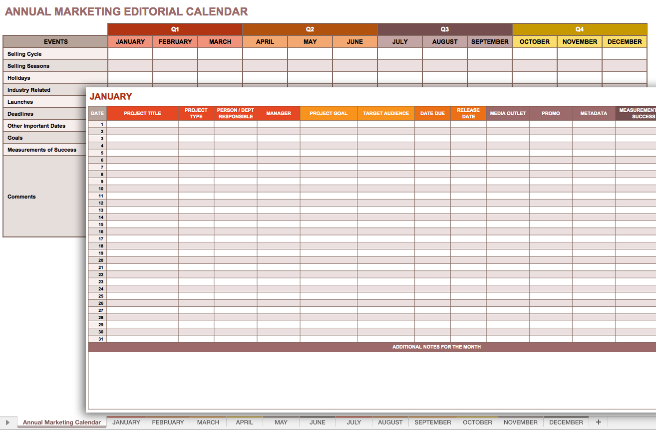 Marketing Campaign Tracking Spreadsheet Tracking