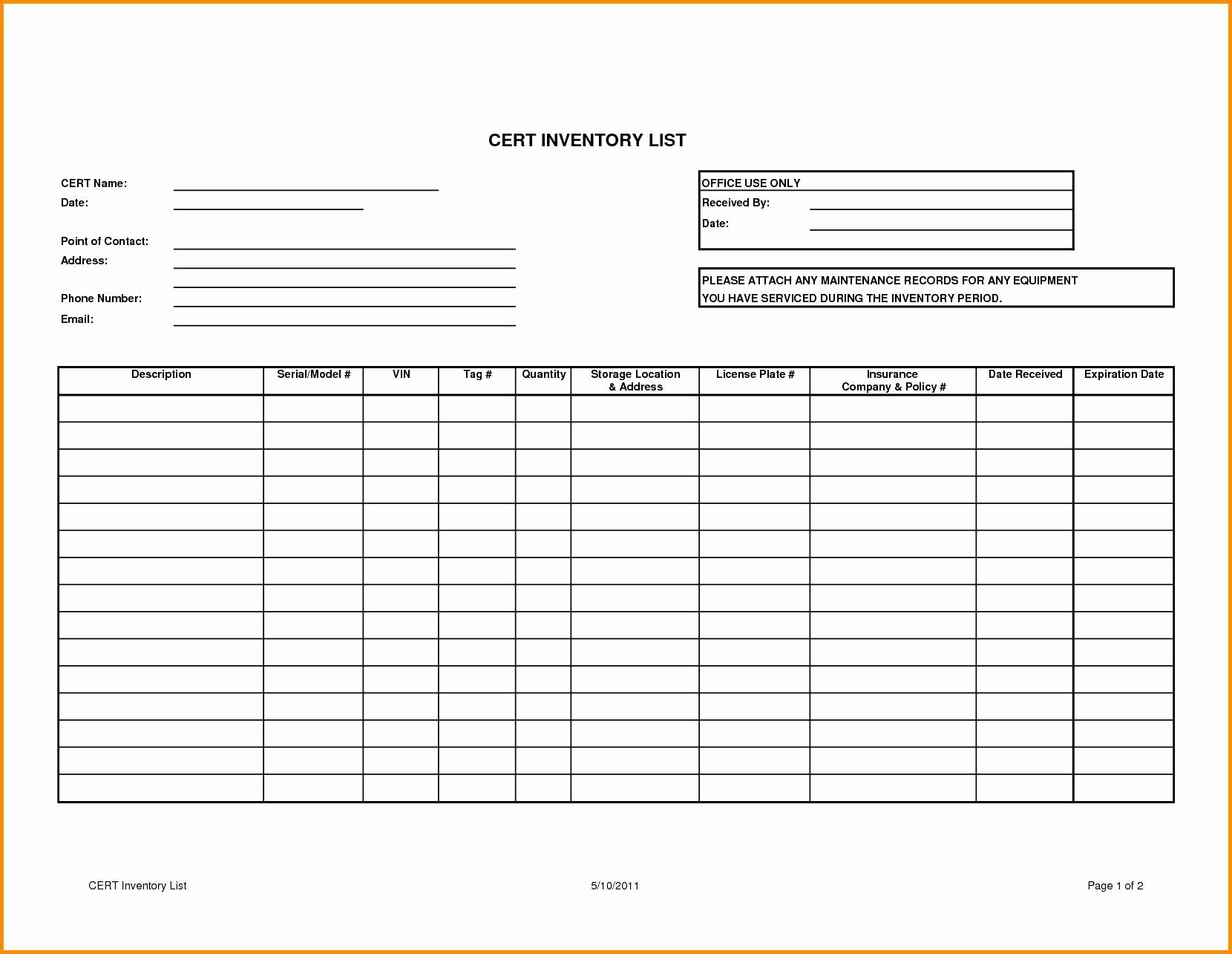 Bar Stock Control Sheet Excel Unique Free Inventory