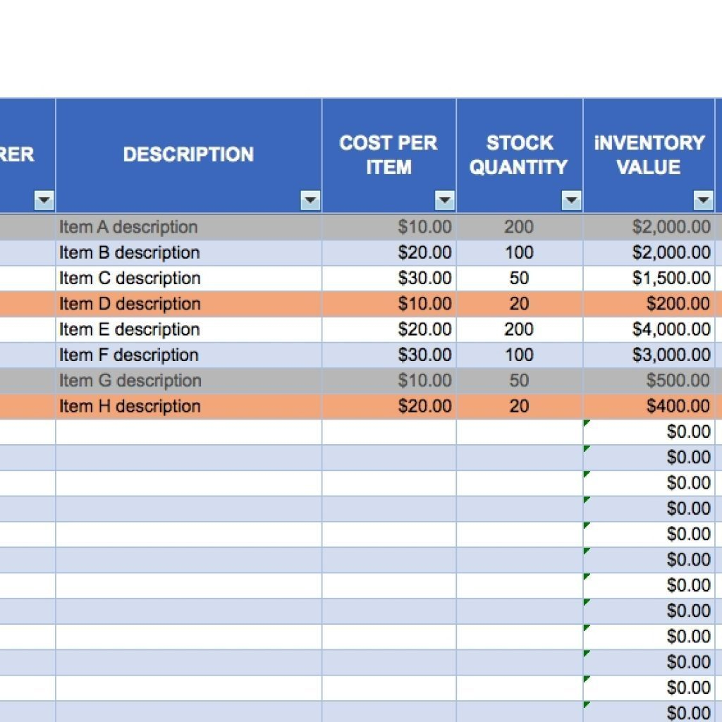 Equipment Tracking Spreadsheet Example Of Free
