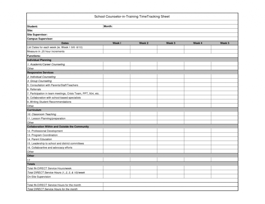 Example Of Employee Time Tracking Spreadsheet Daily