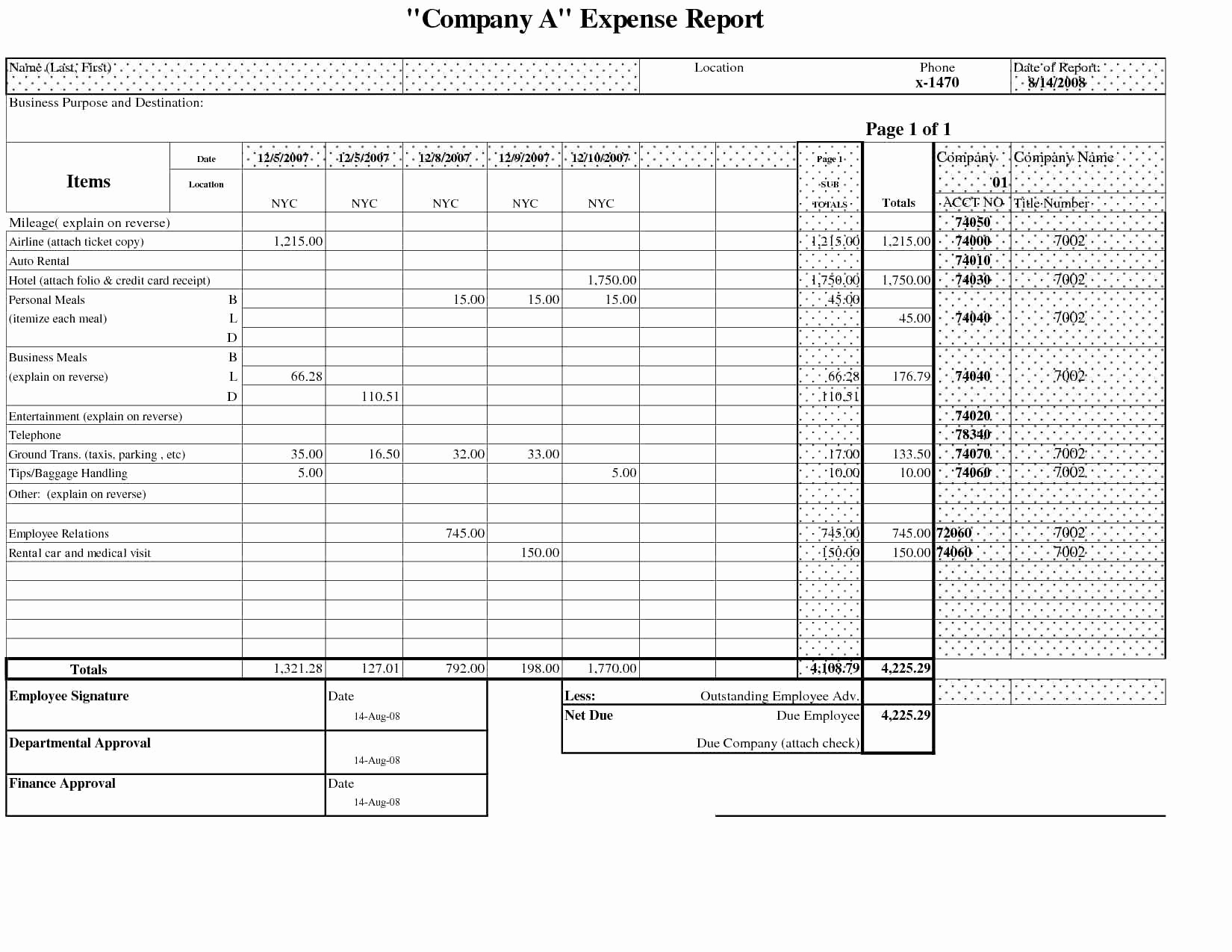 Business Operating Expense Template Business Spreadshee