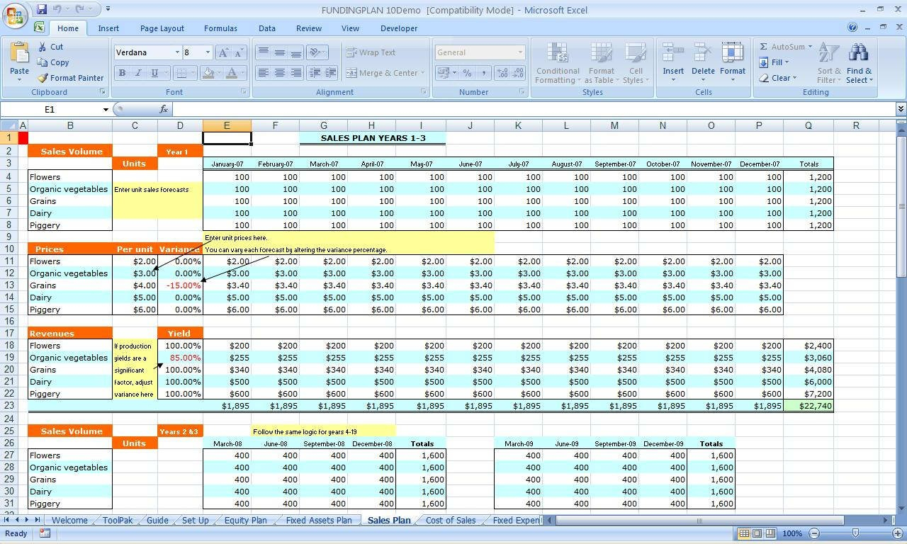 Business Monthly Expenses Spreadsheet Template Business