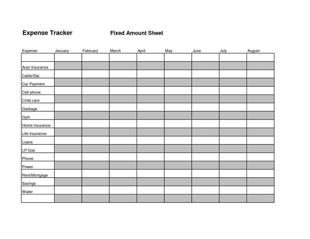 Expense Report Software And Personal Expense Tracker Excel