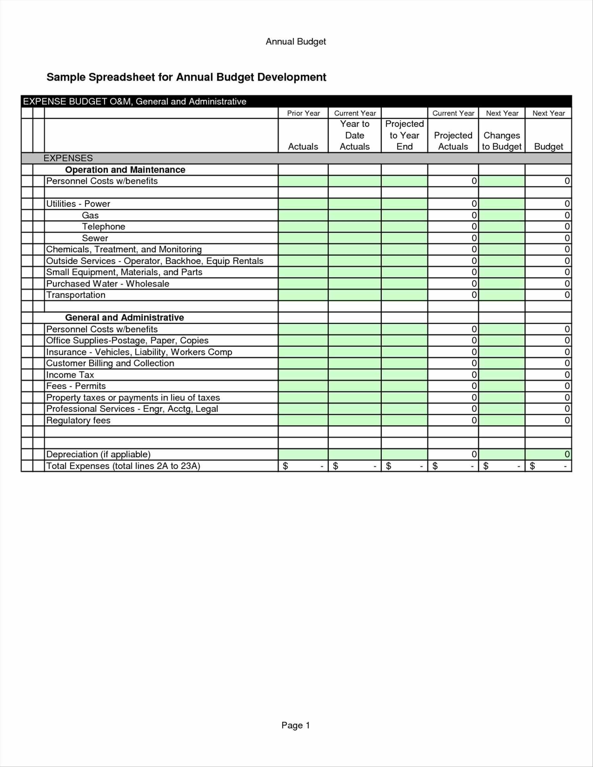 Free Business Budget Template Durunrasgrup In Business