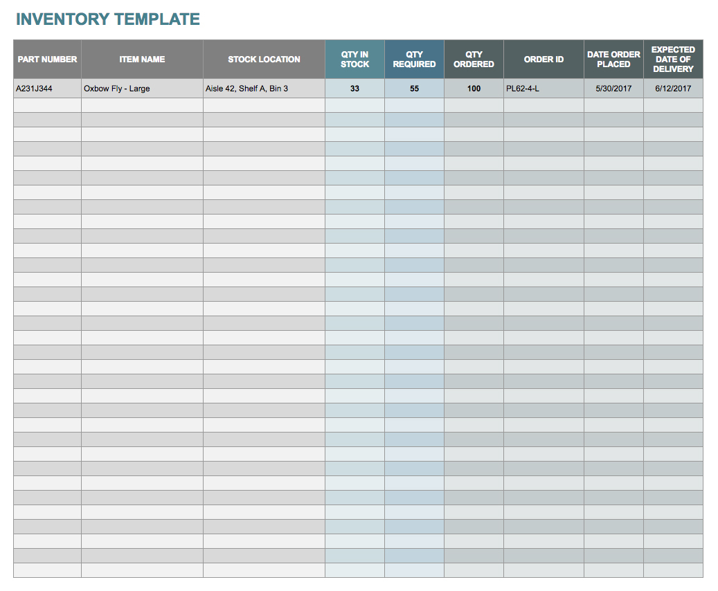 Free Docs And Spreadsheet Templates Smartsheet With