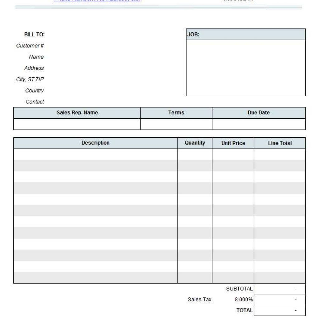 Independent Contractor Invoice Template Sample Contractor