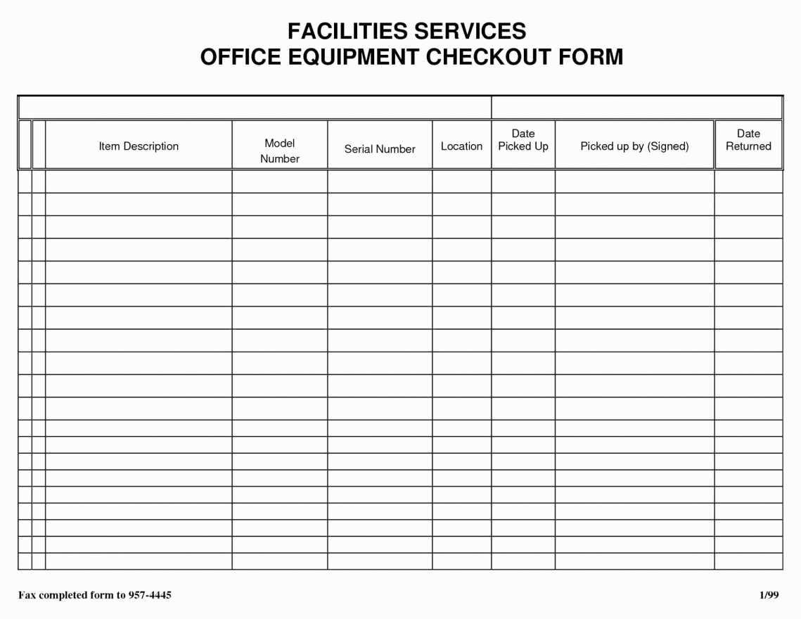 Supplies Inventory Worksheet Template