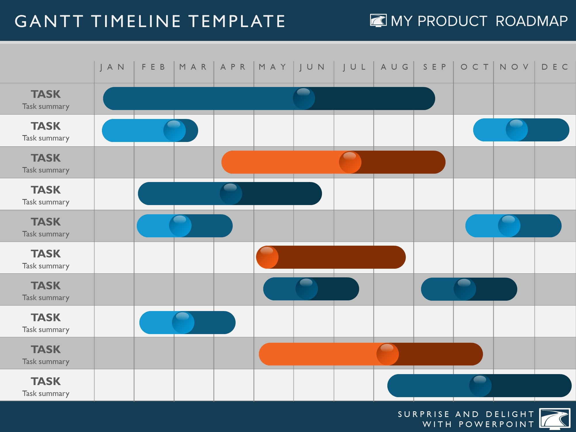 Quarterly Timeline Template