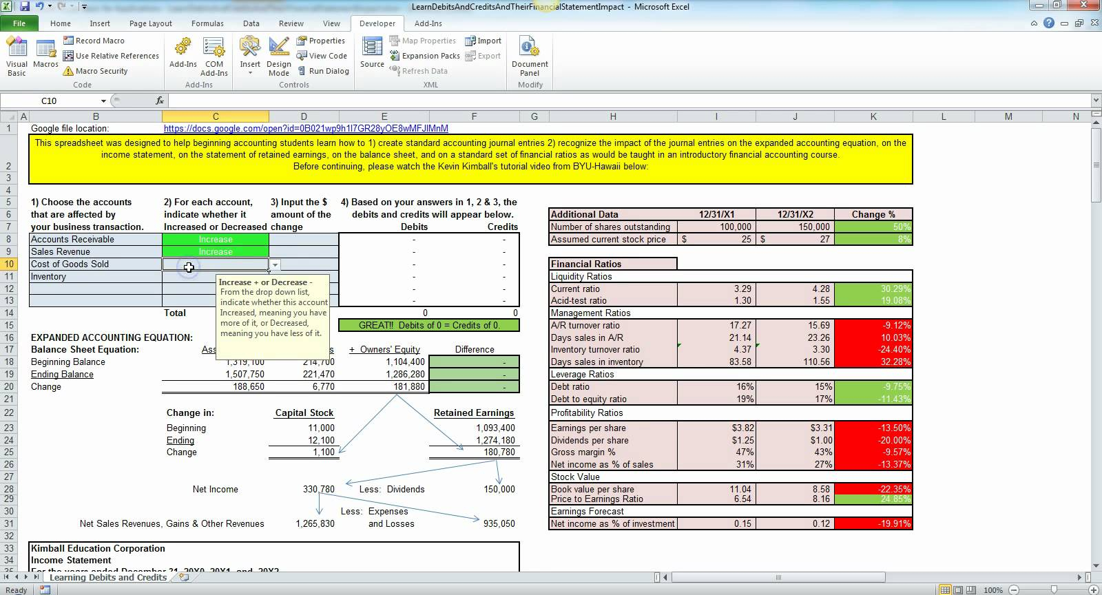 Simple Accounting For Small Business In Excel Free